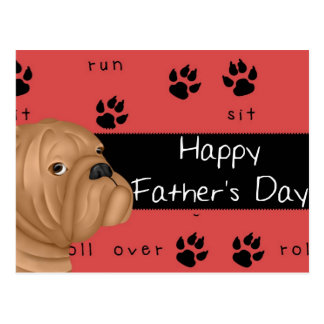 Bulldog Happy Father's Day Postcard