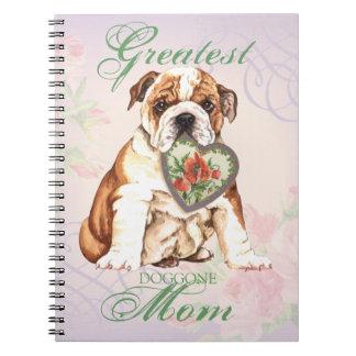 Bulldog Heart Mom Note Book