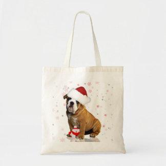 Bulldog Holiday Budget Tote