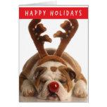Bulldog Holiday card