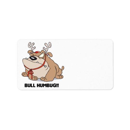 bulldog humbug label
