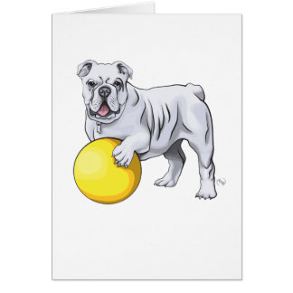 Bulldog Illustration Greeting Card