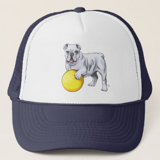 Bulldog Illustration Hat