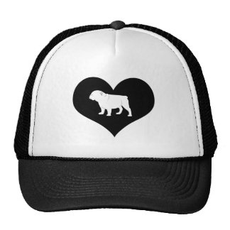 Bulldog in a Heart Cap