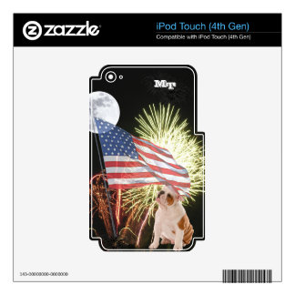Bulldog iPod Touch (4th Gen) Custom Skin Skins For iPod Touch 4G