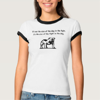 bulldog, It's not the size of the dog in the fi... Tees