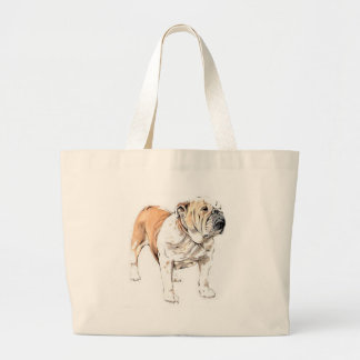 Bulldog Jumbo Tote Bag
