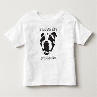 Bulldog Kids Shirt! Back says MY BULLDOG LOVES ME Toddler T-Shirt
