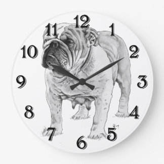 Bulldog Large Clock