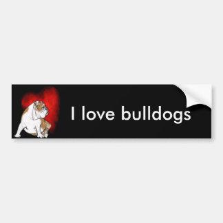 Bulldog Love Bumper Sticker