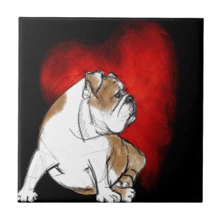 Bulldog Love Ceramic Tile