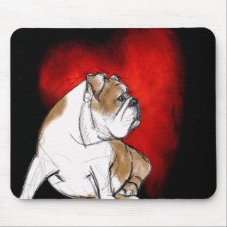 Bulldog Love Mouse Pad