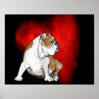 Bulldog Love Poster