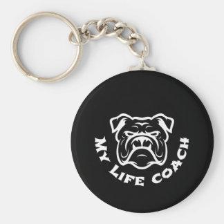 Bulldog lover life coach keychain