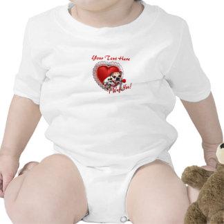 Bulldog Maddie Red Rose Valentine Design T Shirts