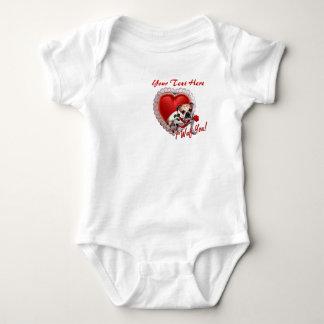Bulldog Maddie Red Rose Valentine Design Tee Shirts