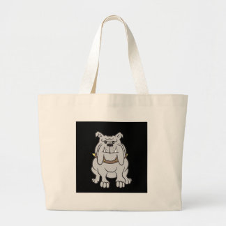 Bulldog Mascot On Black Design Style Tote Bags