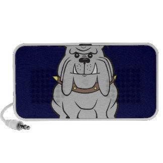 Bulldog Mascot on Blue Portable Speakers