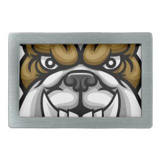 Bulldog Mean Sports Mascot Belt Buckles
