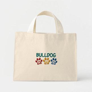 BULLDOG MOM Paw Print 1 Canvas Bag
