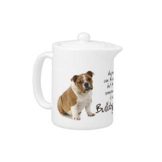Bulldog Mom Teapot