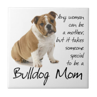 Bulldog Mom Tile