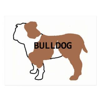 bulldog name silo red and white postcard