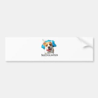 bulldog nation bumper sticker