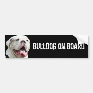 Bulldog on Board White Bulldog bumper sticker