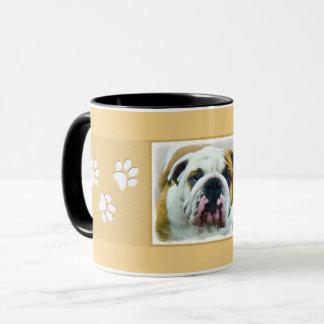 Bulldog Painting - Cute Original Dog Art Mug