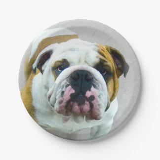 Bulldog Paper Plate
