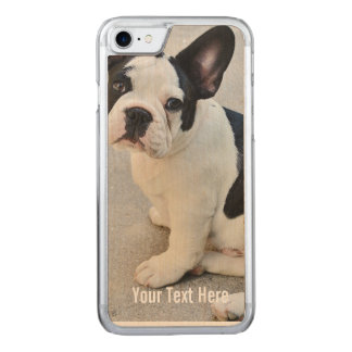 Bulldog Photo and Bulldog Name Carved iPhone 7 Case
