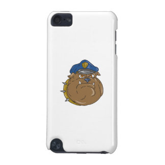 Bulldog Policeman Head Cartoon iPod Touch 5G Cases