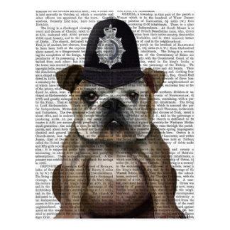 Bulldog Policeman Postcard