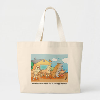 Bulldog - Poodle Cartoon Gifts Canvas Bags