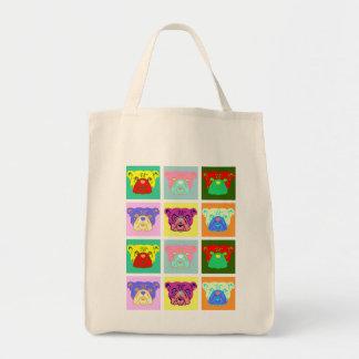 Bulldog Pop Art Canvas Bag