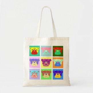Bulldog Pop Art Bags