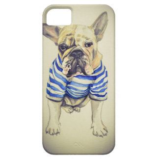 Bulldog Portrait in Purple Haze Case For The iPhone 5