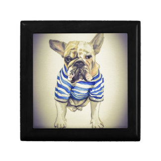 Bulldog Portrait in Purple Haze Gift Box