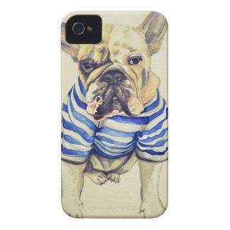 Bulldog Portrait in Purple Haze iPhone 4 Case-Mate Case