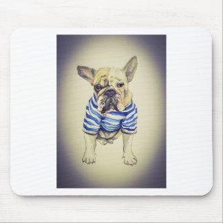 Bulldog Portrait in Purple Haze Mouse Pad