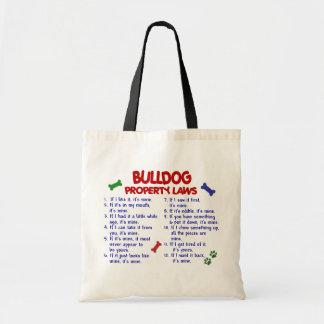 Bulldog Property Laws 2 Canvas Bag