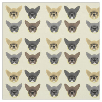 Bulldog Puppies Fabric