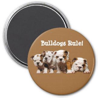 Bulldog Puppies Magnet