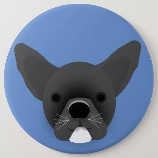 Bulldog Puppy 6 Cm Round Badge