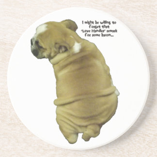 Bulldog Puppy Love Handles and Bacon Coaster