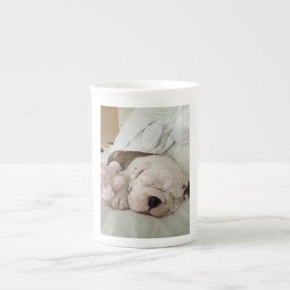 Bulldog Puppy Sleeping Mug Bone China Mug