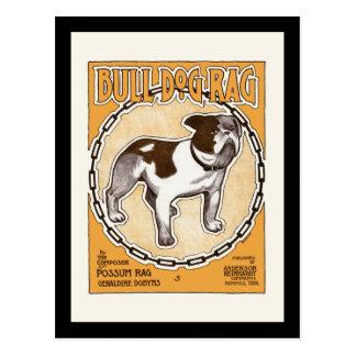 Bulldog Rag Sheet Cover Postcard