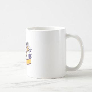 Bulldog Sheriff Cowboy Head Banner Retro Coffee Mug