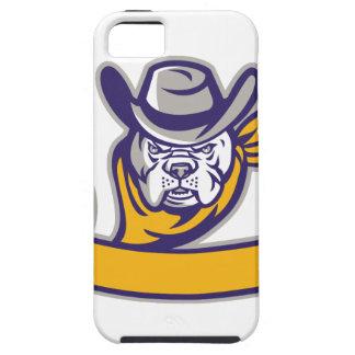 Bulldog Sheriff Cowboy Head Banner Retro iPhone 5 Covers
